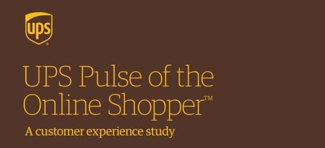UPS Pulse of the Online Shopper: report ComScore